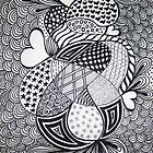 Retro Love Zentangle Style by GroovyGal