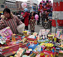 Fireworks seller, Jiangyan, Jiangsu, China by DaveLambert