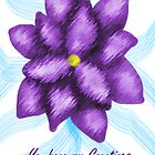 Purple Flower of Greetings  by AlmaAzul