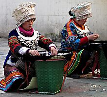 Street Traders, Tunxi, Anhui, China by DaveLambert