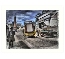 Always Busy at the Diggings Art Print