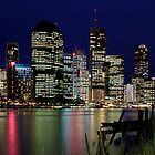 Brisbane City by Night by Helen Martikainen