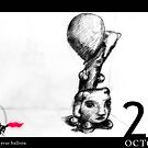 October 23rd - Hold onto your balloon by 365 Notepads -  School of Faces