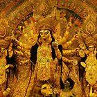 Durga Puja, 2010, Maddox Square, Kolkata, India by Mahesh Kumar