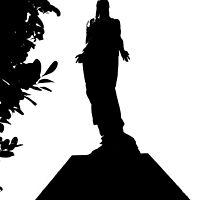 Statue of Jesus on a mausoleum, the necropolis, Cuba by buttonpresser