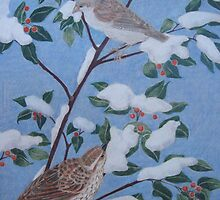 Sparrows in Winter by Susan Genge
