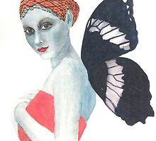 Modesty the Butterfly Lady by artymelanie