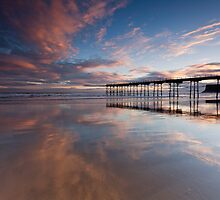 Saltburn pier & Sunrise by Carl Mickleburgh