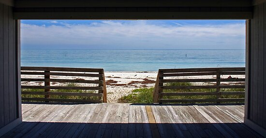 Doorway to the Beach - Bahia Honda, Florida by Debbie Pinard