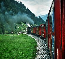 The Zillertal Steam Train by Xandru