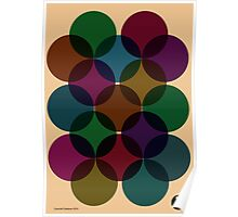 Vintage circles composition Poster