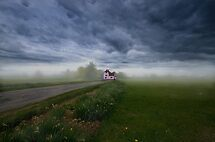 Pink Cottage by Nigel Bangert