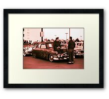 Kustom, Kids n Kruisin Shoebox 1950 Ford Framed Print