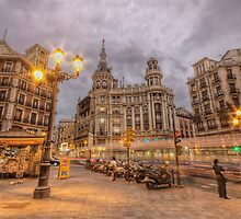 Stormy Dusk @ Plaza de Canalejas  by servalpe