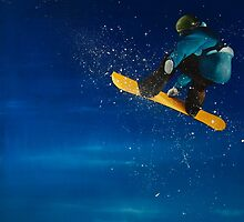 Into the realm. Snowboarding. by jan farthing