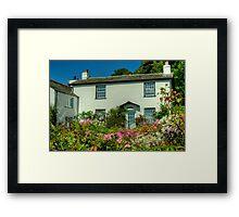 The White Cottage Framed Print
