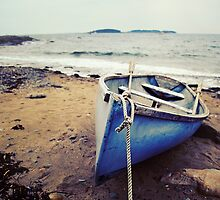 Blue Boat - Coastal Maine by Sarah Beard Buckley