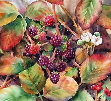 Autumn Hedgerow by Ann Mortimer