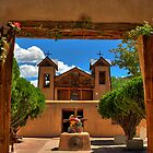 Gates to Santuario de Chimayó Church by Diana Graves Photography