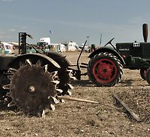 Vintage Case & Monktells Tractors  by Rob Hawkins