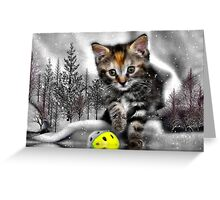 Kitten at the Pond Greeting Card