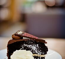 chocolate cake... by Natalia Campbell