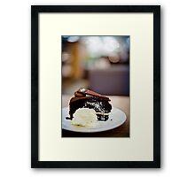 chocolate cake... Framed Print