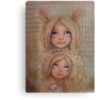 Bunny and Bear Canvas Print