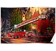 Salem Fire Engine Poster