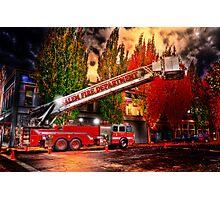 Salem Fire Engine Photographic Print