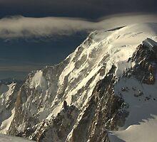 High Winds on Mont Blanc (4810 m) by Hugh Chaffey-Millar
