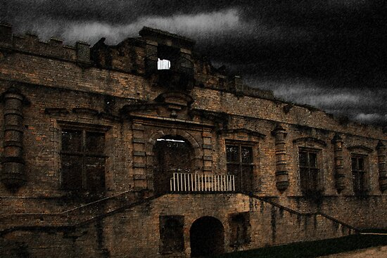 Bolsover Castle Ballroom in The Rain by Andy Smith