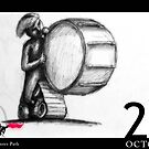 October 26th - The Drummer Path by 365 Notepads -  School of Faces