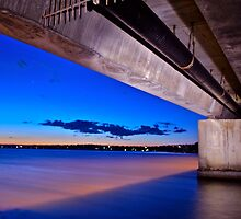 Night shot Toukley Bridge,8.20pm by Warren  Patten