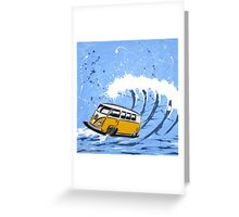 Splitty Wave 02 Painting Greeting Card