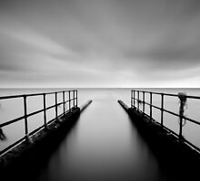 The Jetty - B&W by canuck photography