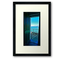 View from Point Bonita Lighthouse, Marin Headlands, Northern CA Framed Print