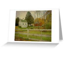 White Barn & Red Barn Greeting Card