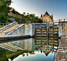 Rideau Canal Locks by (Tallow) Dave  Van de Laar