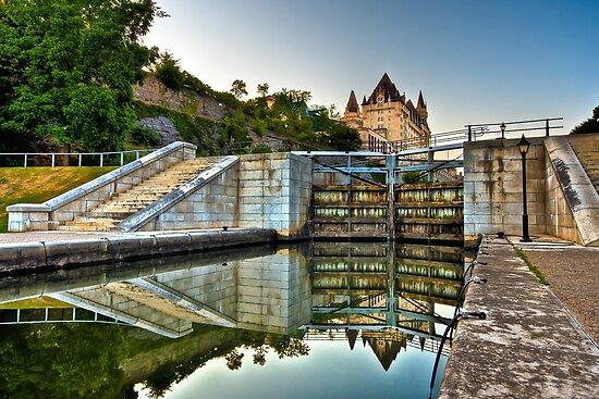 Rideau Canal Locks by (Tallow) Dave  Van de Laar