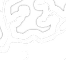 Autumn Tributaries (White) Sticker