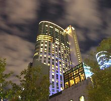 Crown Casino and night sky by Paul Bech