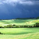 Storm Over Siena-Siena, Itlay by Deborah Downes