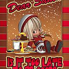 Christmas Card - Naughty Elf Eating Gingerbread by Moonlake