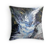 White Water Series. Throw Pillow