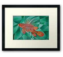 Fire Fish Framed Print
