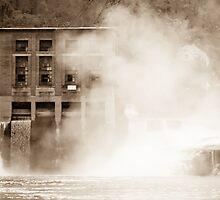 Kanawha Falls Vintage Landmark by Jeanne Sheridan