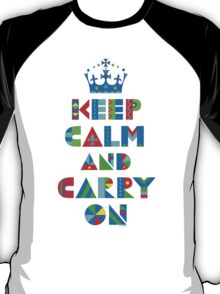 Keep Calm Carry On - on lights T-Shirt