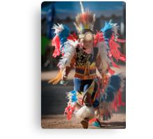 Chumash native American teen dancing Metal Print
