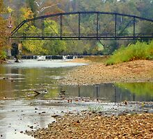 War Eagle Mill River in Fall, N.W. Arkansas by David  Hughes